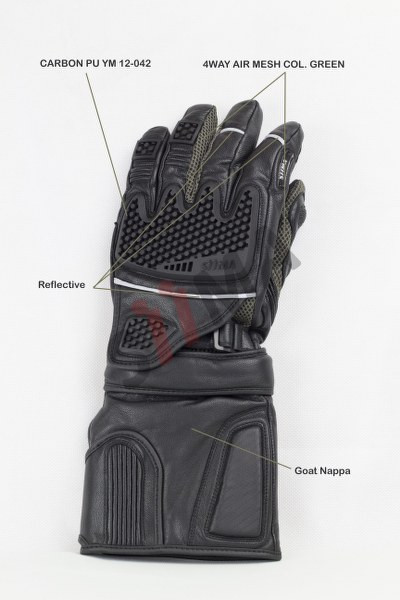 siima sibirsky adventure gloves knuckle view
