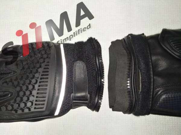 split view of the motorcycle adventure glove siima sibirsky