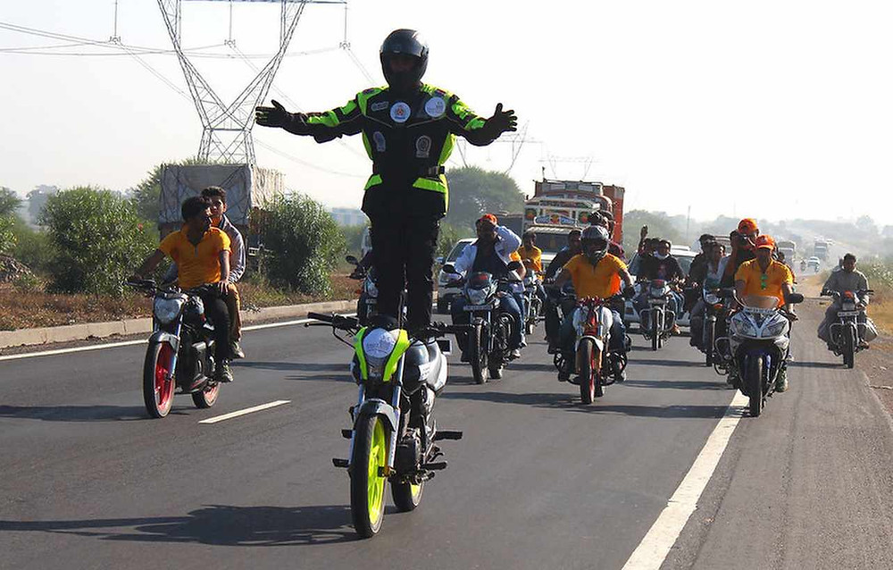 Longest Continuous Ride Standing on the Seat of a Motorcycle pandey