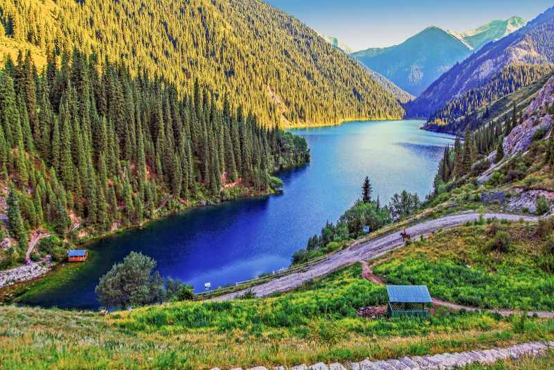 The national nature park is the Kolsay lake. Near Almaty. Kazakhstan_800x534
