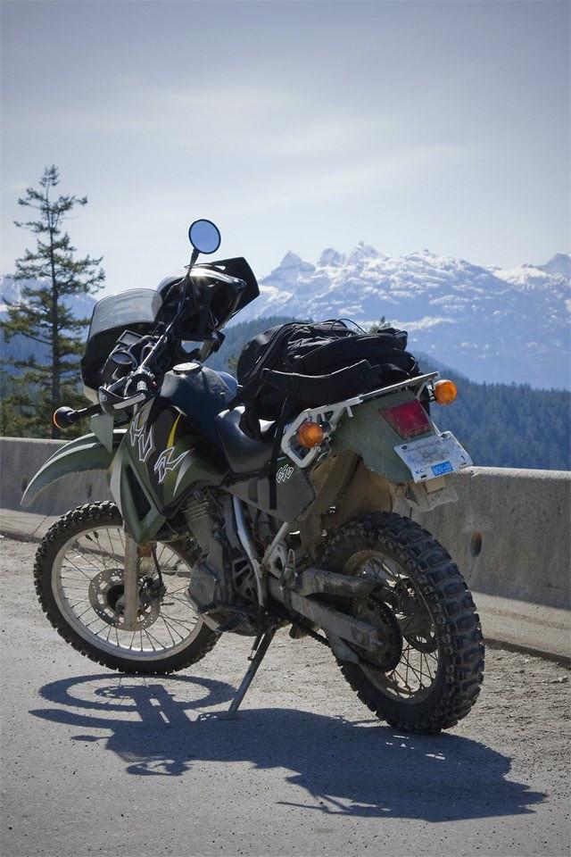 KLR 650 dual sport motorcycle