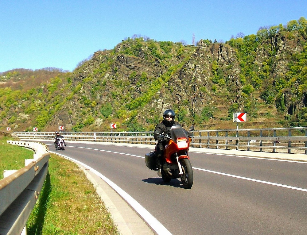 Motorcycle Touring Riders on Mountains