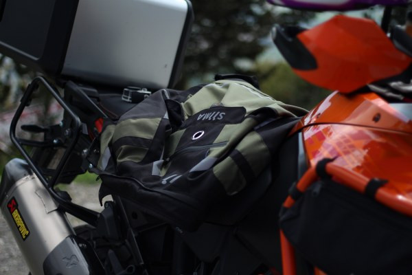 siima sibirsky jacket on the seat of a ktm 1190 adventure