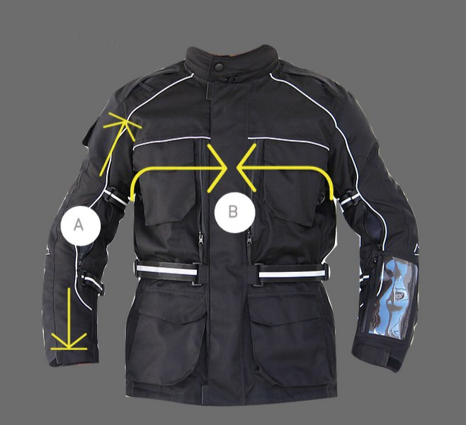 siima mountain view touring jacket size chart