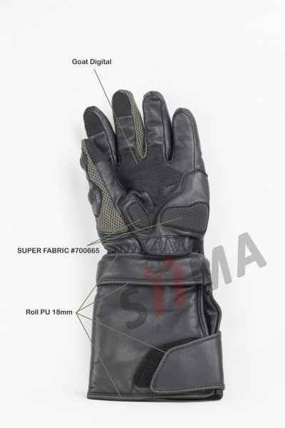 siima sibirsky adventure gloves palm view