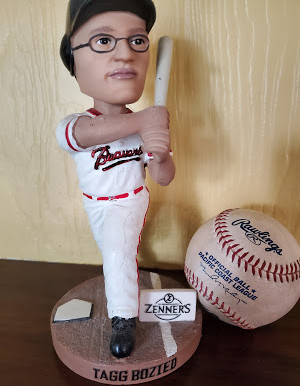 Tagg Bozied: the birth of a                                bobblehead