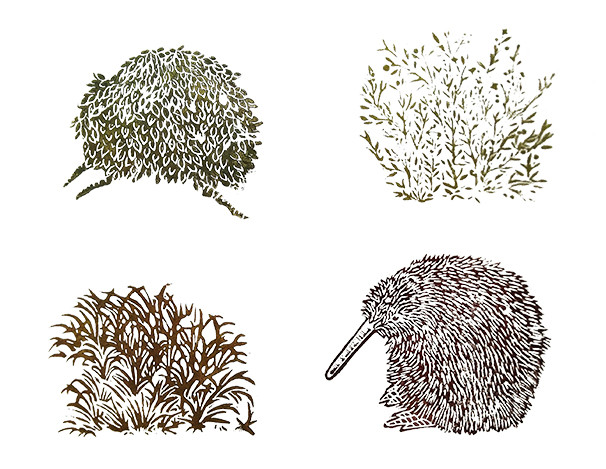 Camouflage linogravure 40_40