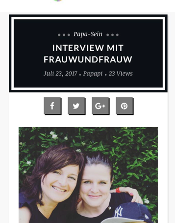 FRAU UND FRAU W IM INTERVIEW MIT PAPAPI