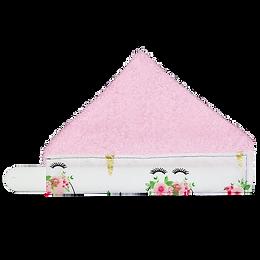 unicorn snap on napkin pink terry back