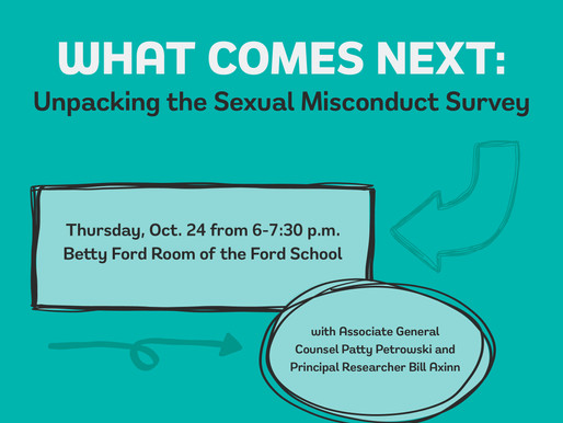 What Comes Next: Unpacking the Sexual Misconduct Survey