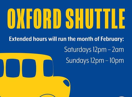Oxford Shuttle Extended Hours