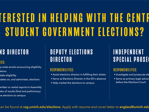 CSG Election Staff Needed!