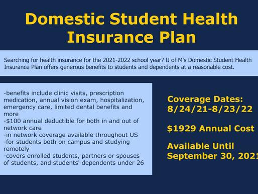 Domestic Student Health Insurance Plan