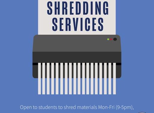 Shredding Service for Students