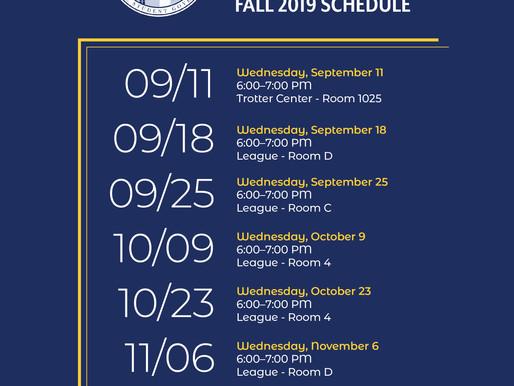 University Council Fall 2019 Meetings