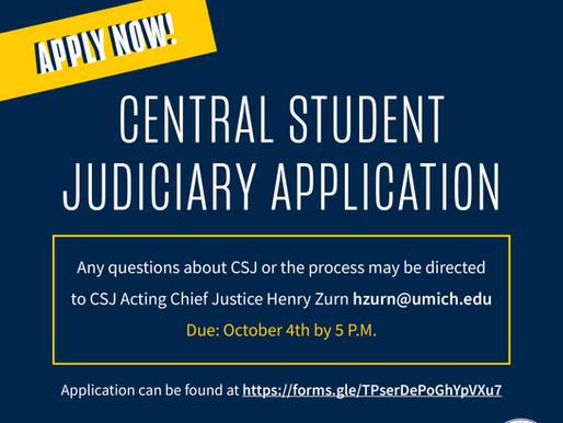 CSJ Applications Now Open!