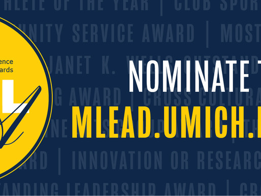 Michigan Difference Student Leadership Awards - Nominate today!