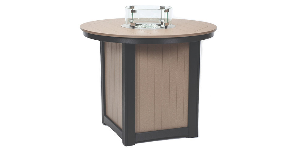 Donoma Round Counter Hight Fire Table