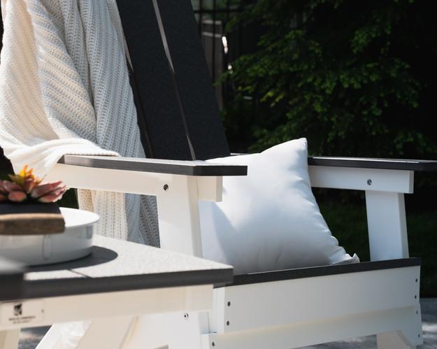 Mayhew Folding Adirondack in Smoke Gray on White