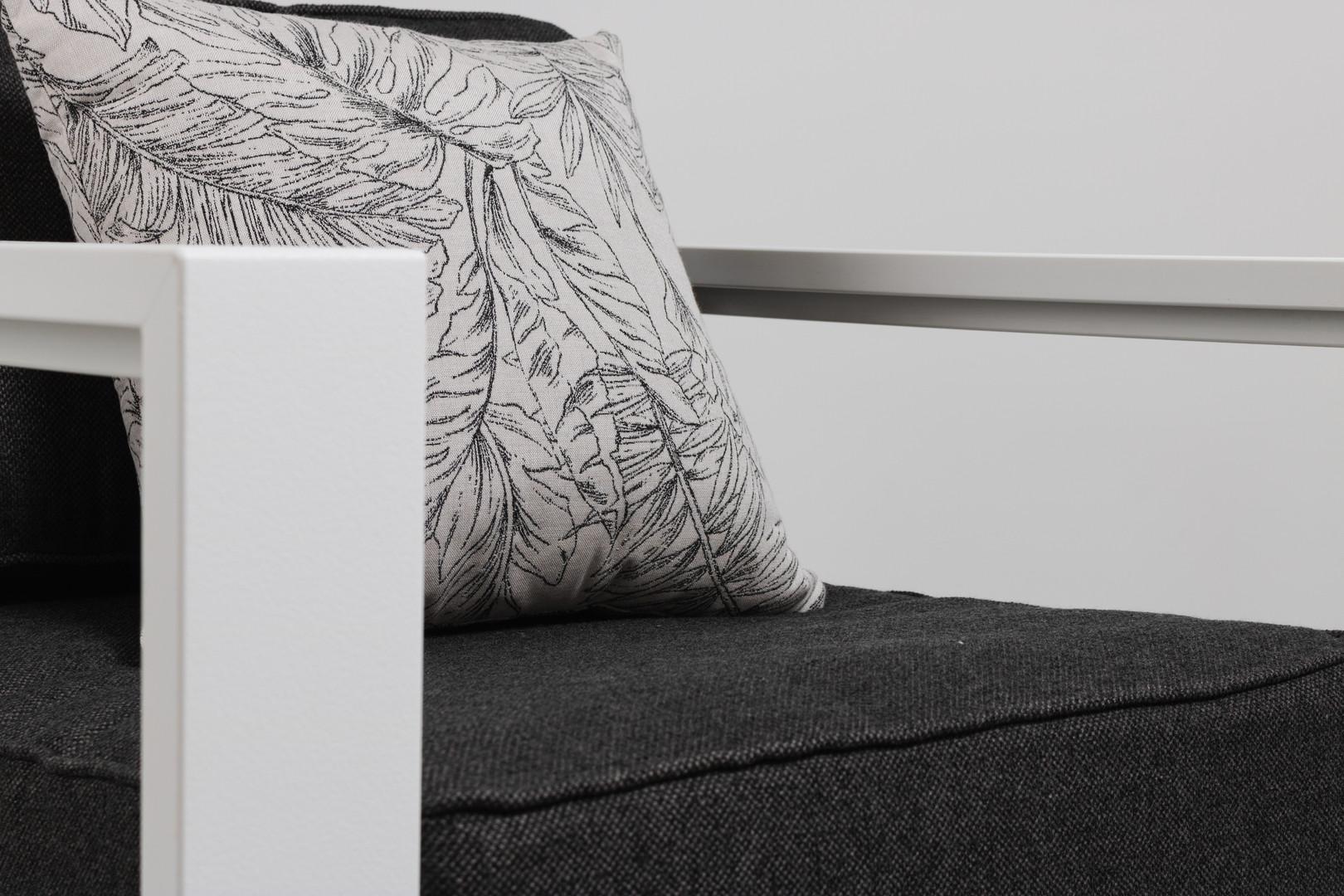 White Nordic Club Chair