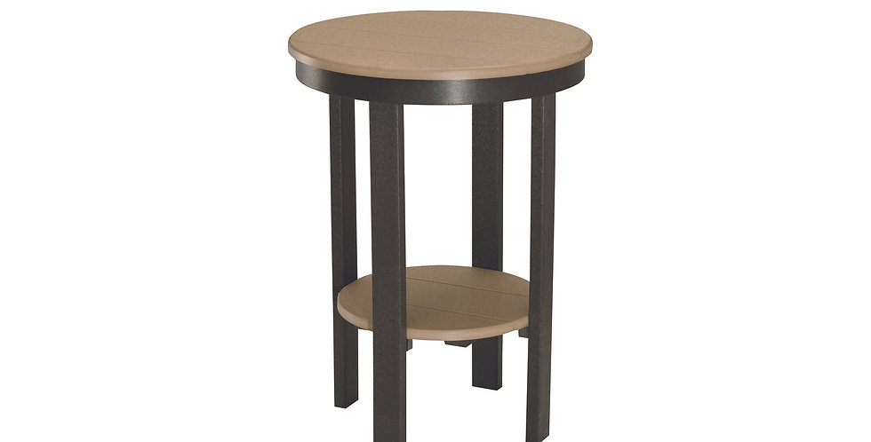 Round Bar Height End Table