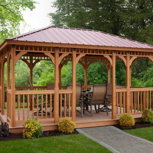 Wood Rectangular Gazebo