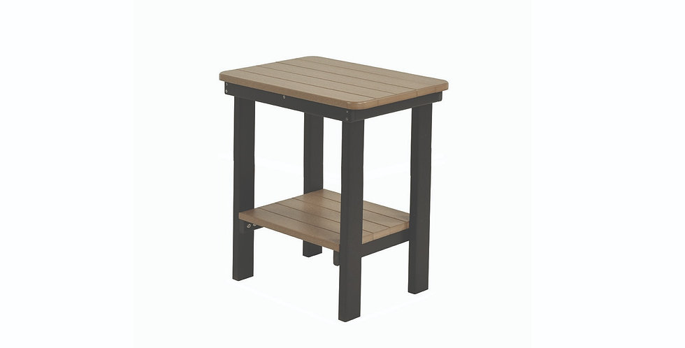 Rectangular Counter Height End Table