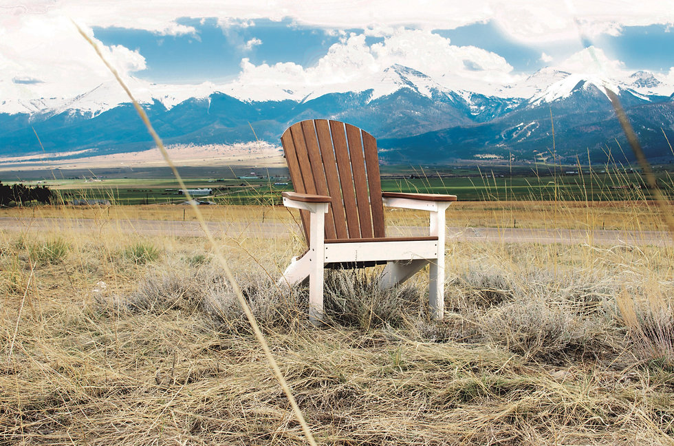 Comfo Back Adirondack Chair -Antique Mah