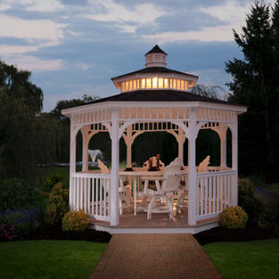 White Vinyl Octagon Gazebo