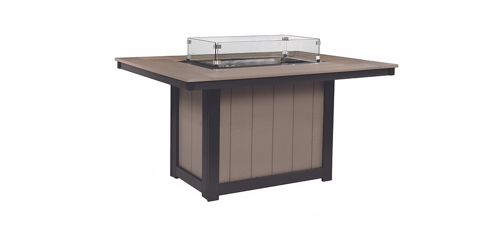 Donoma Rectangular Dining Height Fire Table