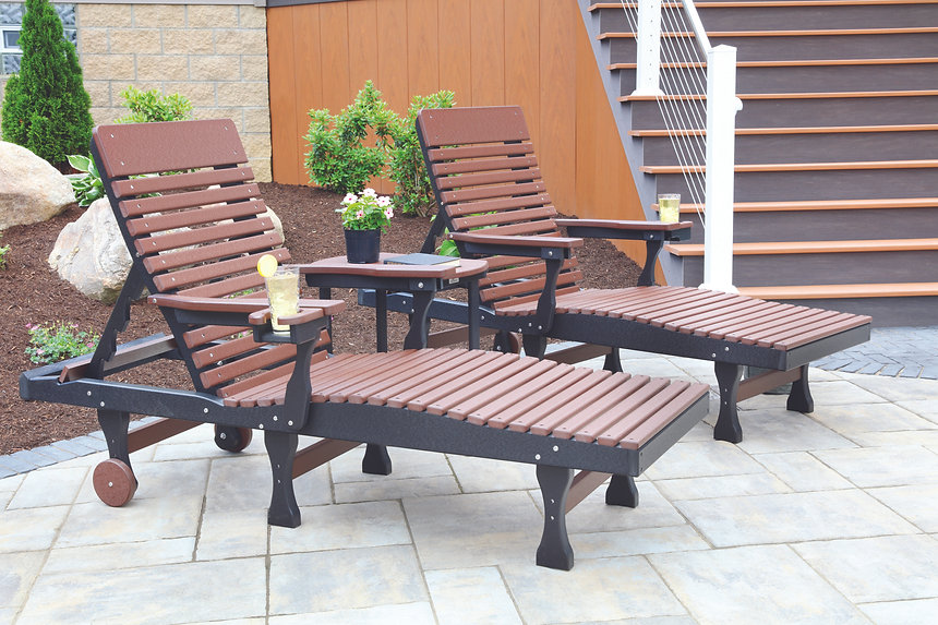 Casual Back Chaise Lounge - Chocolate Br