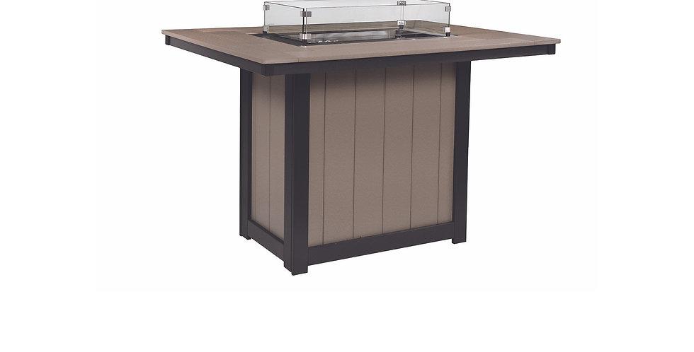 Donoma Rectangular Bar Height Fire Table