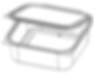 08SQSH-84 Square Hinged Tub