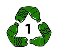 Water Bottle Recycling Logo - Green and Black - With 1.png