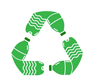 Water Bottle Recycling Logo - PP Green -