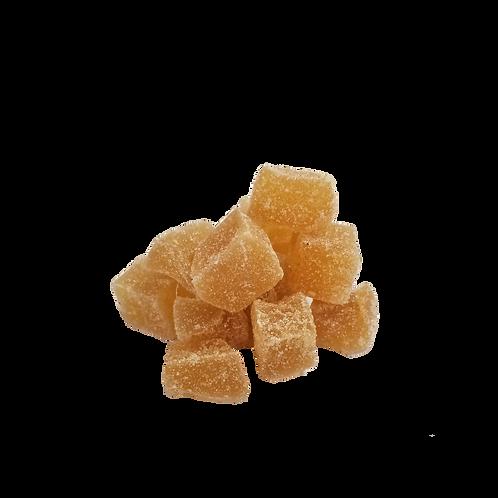 Gingembre en dés sucré cristallisé bio