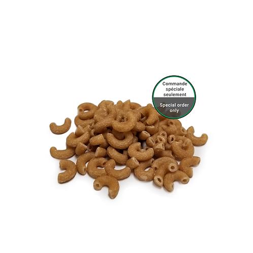 Macaroni de blé entier bio