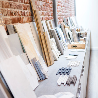 Aria Design selection of materials