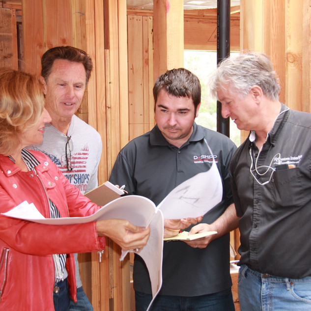 She is personally involved during the construction of the project, supervising all trades.