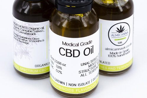 Medical Grade CBD Oil 3.8 Front