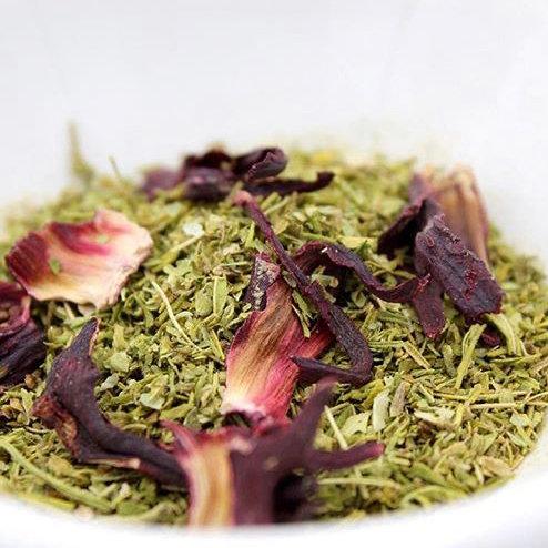 Organic Hemp tea & hibiscus flowers
