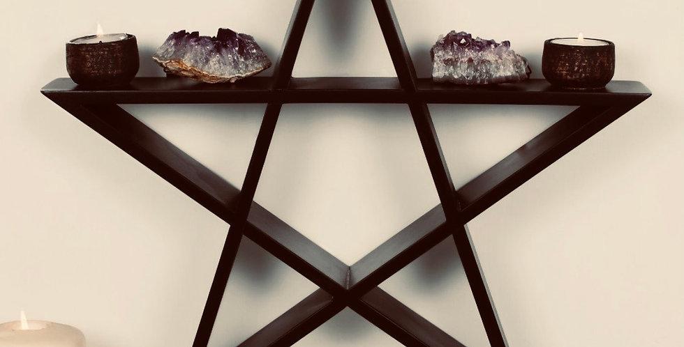 Black Magic Pentagram Wall Shelf