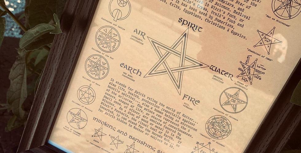 'The Pentagram' framed poster