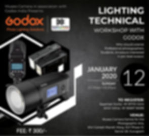 Lighting technical workshop with Godox photo lighting solutions at museo camera