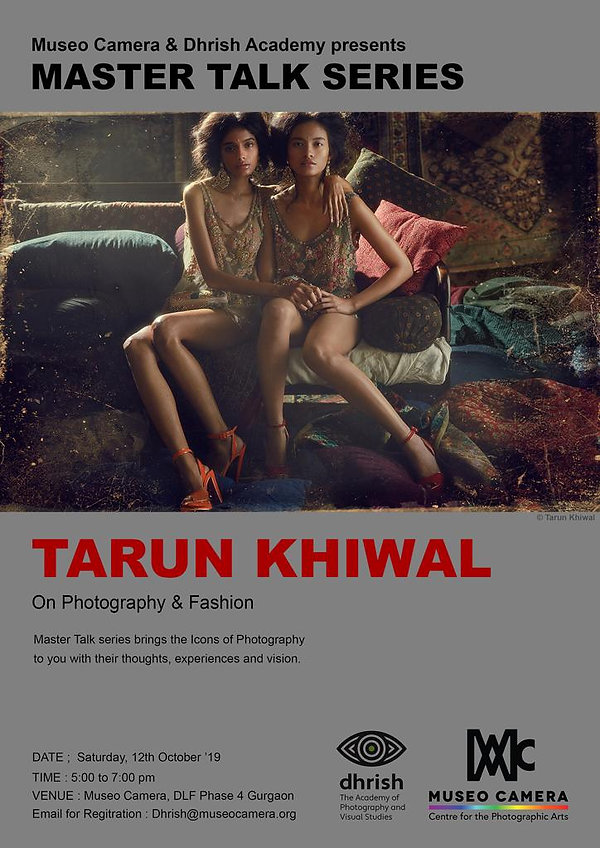 Master Talk Series with Tarun Khiwal at Museo Camera photography workshop