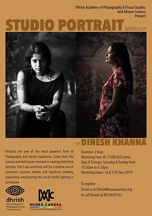 Studio portait workshop by Dinesh Khanna photo techniques