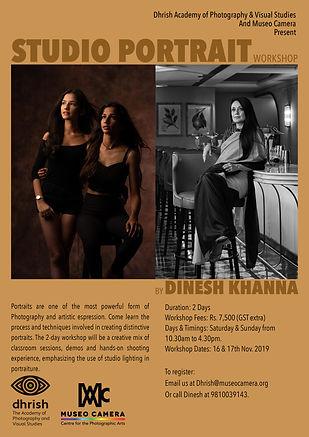 Studio portrait workshop by Dinesh Khanna photography