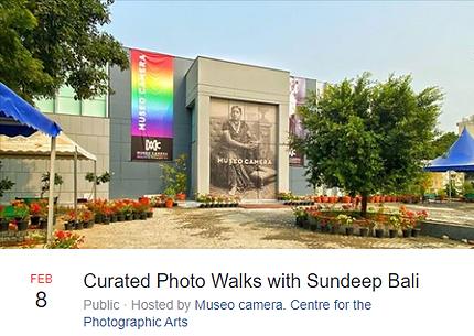 Curated photo walks with Sundeep Bali at camera museum gurgaon
