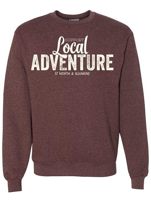 Support Local Adventure Sweatshirt - Heather Maroon