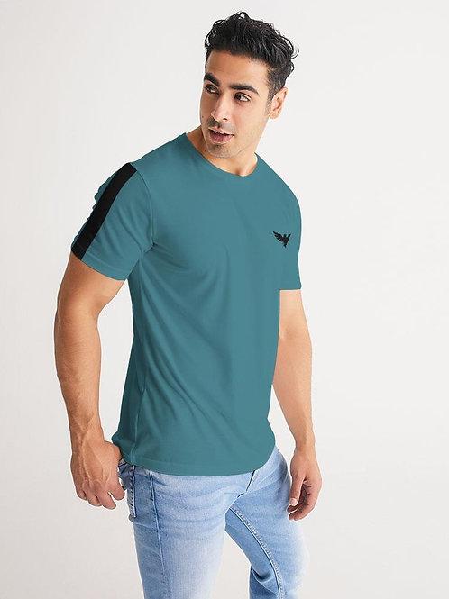 Men's Harvard Stripe Performance Dark Teal Crewneck Shirt